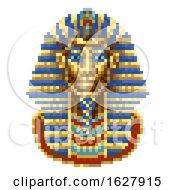 Poster, Art Print Of Egyptian Pharaoh Mask Icon Pixel Art