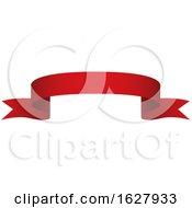 Red Ribbon Banner Design Element