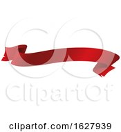 Red Ribbon Banner Design Element