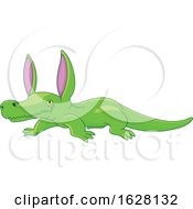 Poster, Art Print Of Cute Crocodile Rabbit Eared Monster