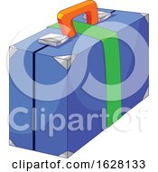 Poster, Art Print Of Blue Green And Orange Suitcase