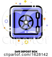 Icon Of Safe Deposit Box For Banking Concept Flat Filled Outline Style Pixel Perfect 64x64 Editable Stroke