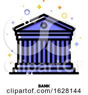 Icon Of Ancient Roman Building For Bank Concept Flat Filled Outline Style Pixel Perfect 64x64 Editable Stroke