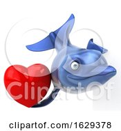 Poster, Art Print Of 3d Dolphin On A White Background