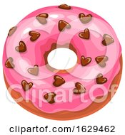 Poster, Art Print Of Valentines Day Donut