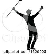 Golfer Golf Sports People Silhouette Set