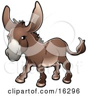 Brown Donkey Equus Asinus On A Farm Clipart Illustration Image by AtStockIllustration