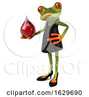 3d Female Frog On A White Background
