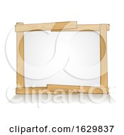 Wooden Frame Sign Background Design Element