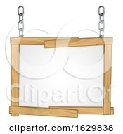 Wooden Frame Sign Hanging From Chains