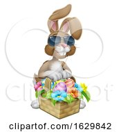 Easter Bunny In Shades Rabbit Eggs Hunt Cartoon