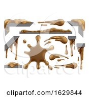 Poster, Art Print Of Mud Or Chocolate Messy Blobs Splats And Drips