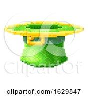 Poster, Art Print Of Leprechaun Hat St Patricks Day Pixel Art Icon