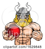 Viking Cricket Sports Mascot