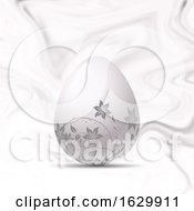 Poster, Art Print Of Easter Egg On Marble Texture
