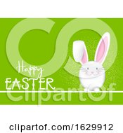 Poster, Art Print Of Happy Easter Background With Bunny