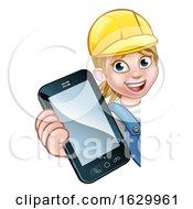 Poster, Art Print Of Handyman Or Mechanic Phone Concept