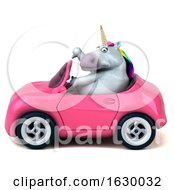 3d Chubby Unicorn On A White Background