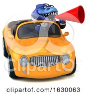 3d Blue Business T Rex Dinosaur On A White Background