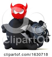3d Black Business Bull On A White Background by Julos