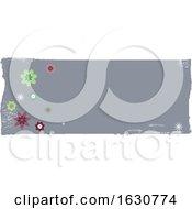 Poster, Art Print Of Grunge Floral Banner Design Element