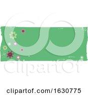Grunge Floral Banner Design Element