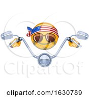 Cartoon Yellow Emoji Emoticon Biker With Handle Bars
