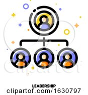 Poster, Art Print Of Team Leadership Icon For Corporate Management Or Business Leader Training Concept