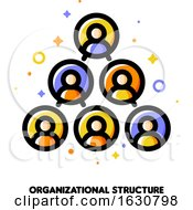 Poster, Art Print Of Company Organizational Structure Icon For Corporate Management Or Business Hierarchy Concept