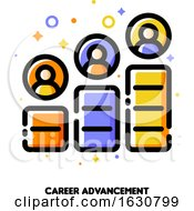 Career Advancement Icon For Corporate Management Or Business Leader Training Concept