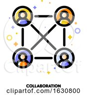 Poster, Art Print Of Team Collaboration Icon For Corporate Management Or Business Leader Training Concept