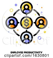 Poster, Art Print Of Employee Productivity Icon For Corporate Management Or Business Leader Training Concept