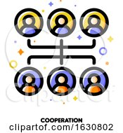 Poster, Art Print Of Team Cooperation Icon For Corporate Management Or Business Leader Training Concept
