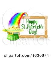 Happy St Patricks Day Pixel Art Sign