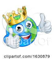King Earth Globe World Mascot Cartoon Character
