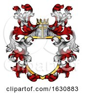 Coat Of Arms Crest Knight Family Heraldic Shield by AtStockIllustration