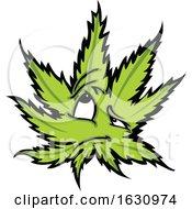 Poster, Art Print Of Cannabis Marijuana Pot Leaf Weed Mascot Character