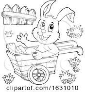 Poster, Art Print Of Easter Bunny In A Wheelbarrow