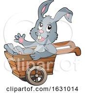 Easter Bunny In A Wheelbarrow