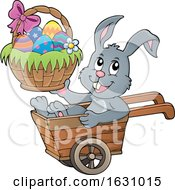 Easter Bunny In A Wheelbarrow