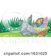 Poster, Art Print Of Sleeping Easter Bunny