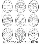 Poster, Art Print Of Black And White Easter Eggs