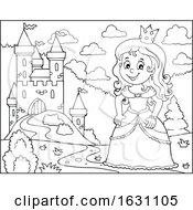 Princess By A Castle