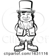 Black And White St Patricks Day Leprechaun by Vector Tradition SM