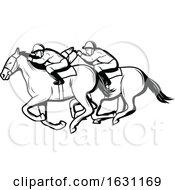 Black And White Jockeys Racing