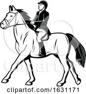 Black And White Equestrian