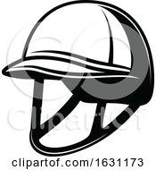 Black And White Equestrian Helmet