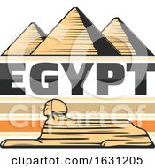 Great Sphinx Of Giza And Pyramids