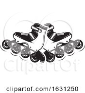 Black And White Roller Blades