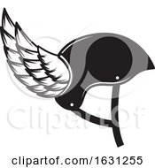 Black And White Winged Helmet